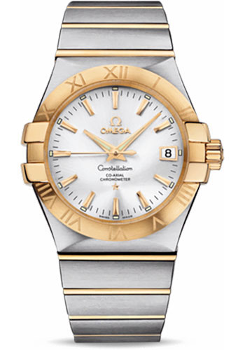 Omega Watches - Constellation Co-Axial 35 mm - Brushed Steel and Yellow Gold - Style No: 123.20.35.20.02.002