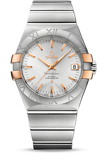 Omega Watches - Constellation Co-Axial 35 mm - Brushed Steel and Red Gold Claws - Style No: 123.20.35.20.02.003