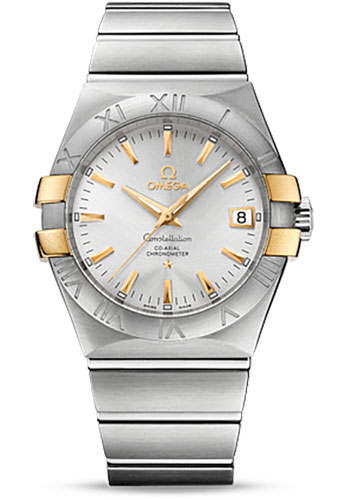 Omega Watches - Constellation Co-Axial 35 mm - Brushed Steel and Yellow Gold Claws - Style No: 123.20.35.20.02.004