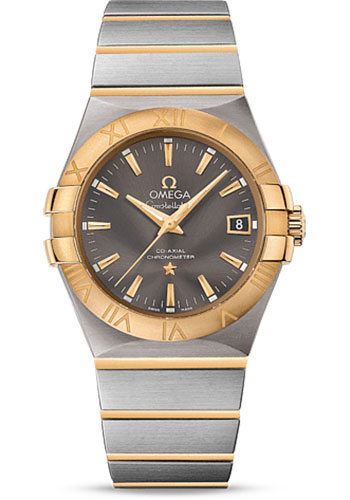 Omega Watches - Constellation Co-Axial 35 mm - Brushed Steel And Yellow Gold - Style No: 123.20.35.20.06.001