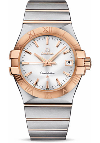Omega Watches - Constellation Quartz 35 mm - Brushed Steel and Red Gold - Style No: 123.20.35.60.02.001