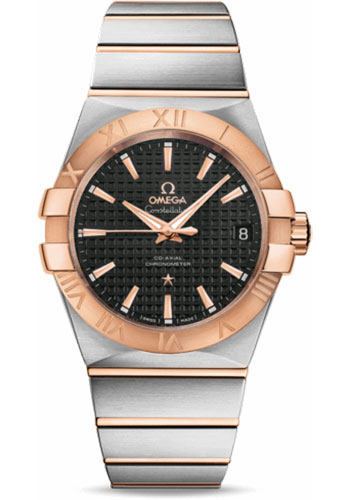 Omega Watches - Constellation Co-Axial 38 mm - Brushed Steel and Red Gold - Style No: 123.20.38.21.01.001