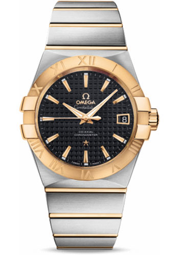 Omega Watches - Constellation Co-Axial 38 mm - Brushed Steel and Yellow Gold - Style No: 123.20.38.21.01.002