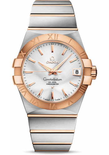 Omega Watches - Constellation Co-Axial 38 mm - Brushed Steel and Red Gold - Style No: 123.20.38.21.02.001