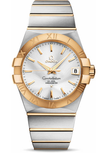 Omega Watches - Constellation Co-Axial 38 mm - Brushed Steel and Yellow Gold - Style No: 123.20.38.21.02.002