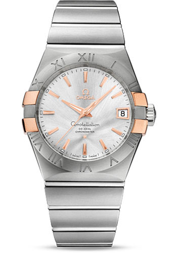 Omega Watches - Constellation Co-Axial 38 mm - Brushed Steel and Red Gold Claws - Style No: 123.20.38.21.02.004