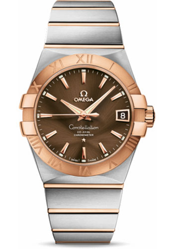 Omega Watches - Constellation Co-Axial 38 mm - Brushed Steel and Red Gold - Style No: 123.20.38.21.13.001