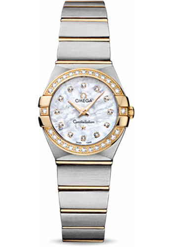 Omega Watches - Constellation Quartz 24 mm - Brushed Steel and Yellow Gold - Style No: 123.25.24.60.55.003