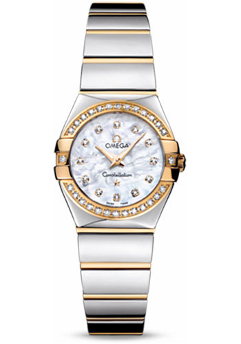 Omega Watches - Constellation Quartz 24 mm - Polished Steel and Yellow Gold - Style No: 123.25.24.60.55.007