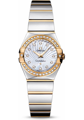 Omega Watches - Constellation Quartz 24 mm - Polished Steel and Yellow Gold - Style No: 123.25.24.60.55.008