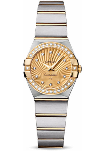 Omega Watches - Constellation Quartz 24 mm - Brushed Steel and Yellow Gold - Style No: 123.25.24.60.58.001
