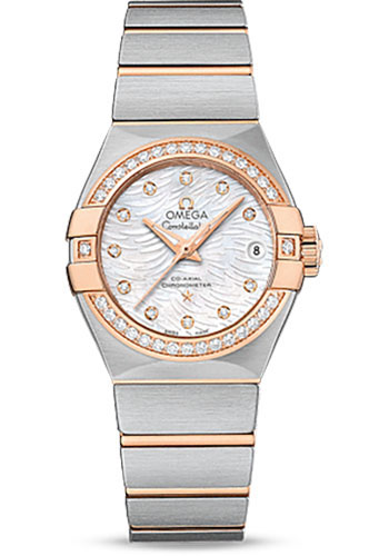 Omega Watches - Constellation Co-Axial 27 mm - Brushed Steel And Red Gold - Style No: 123.25.27.20.55.006