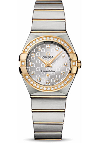 Omega Watches - Constellation Quartz 27 mm - Brushed Steel and Yellow Gold - Style No: 123.25.27.60.52.002