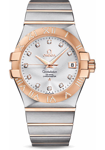 Omega Watches - Constellation Co-Axial 35 mm - Brushed Steel and Red Gold - Style No: 123.25.35.20.52.003
