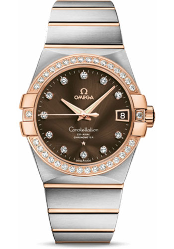 Omega Watches - Constellation Co-Axial 38 mm - Brushed Steel and Red Gold - Style No: 123.25.38.21.63.001