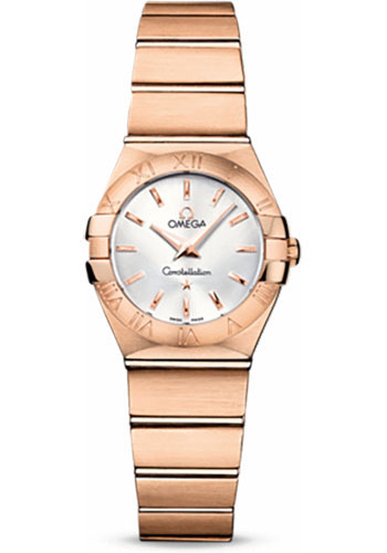 Omega Watches - Constellation Quartz 24 mm - Brushed Red Gold - Style No: 123.50.24.60.02.001