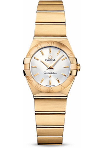 Omega Watches - Constellation Quartz 24 mm - Brushed Yellow Gold - Style No: 123.50.24.60.02.002