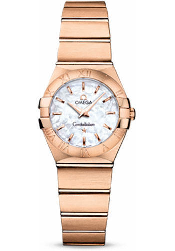 Omega Watches - Constellation Quartz 24 mm - Brushed Red Gold - Style No: 123.50.24.60.05.001