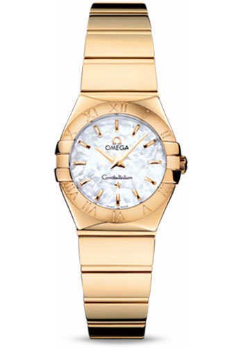 Omega Watches - Constellation Quartz 24 mm - Polished Yellow Gold - Style No: 123.50.24.60.05.004