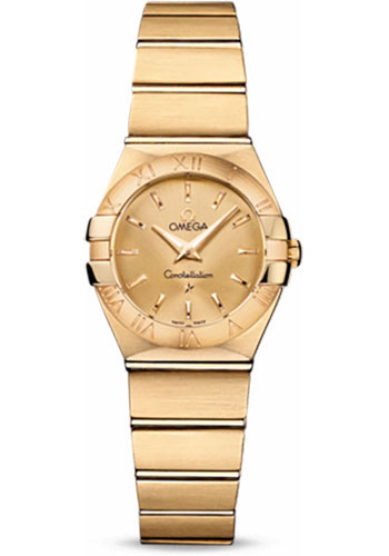 Omega Watches - Constellation Quartz 24 mm - Brushed Yellow Gold - Style No: 123.50.24.60.08.001