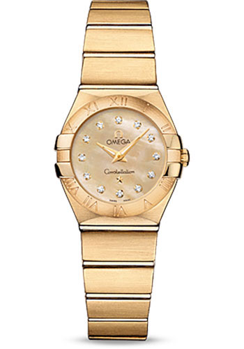 Omega Watches - Constellation Quartz 24 mm - Brushed Yellow Gold - Style No: 123.50.24.60.57.001