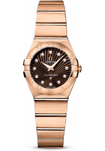 Omega Watches - Constellation Quartz 24 mm - Brushed Red Gold - Style No: 123.50.24.60.63.001