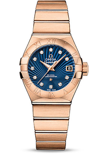 Omega Watches - Constellation Co-Axial 27 mm - Red Gold - Style No: 123.50.27.20.53.001