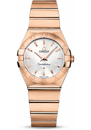 Omega Watches - Constellation Quartz 27 mm - Brushed Red Gold - Style No: 123.50.27.60.02.001