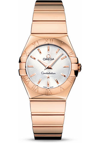 Omega Watches - Constellation Quartz 27 mm - Polished Red Gold - Style No: 123.50.27.60.02.003