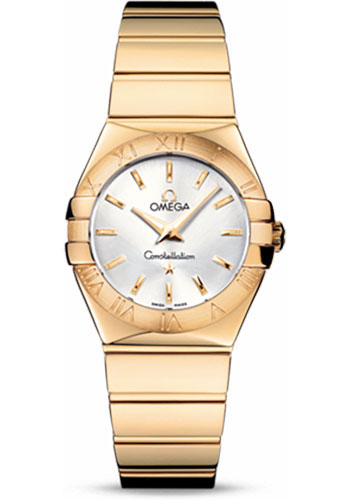 Omega Watches - Constellation Quartz 27 mm - Polished Yellow Gold - Style No: 123.50.27.60.02.004