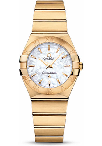 Omega Watches - Constellation Quartz 27 mm - Brushed Yellow Gold - Style No: 123.50.27.60.05.002