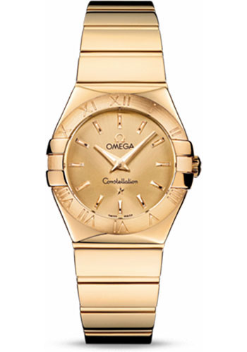Omega Watches - Constellation Quartz 27 mm - Polished Yellow Gold - Style No: 123.50.27.60.08.002