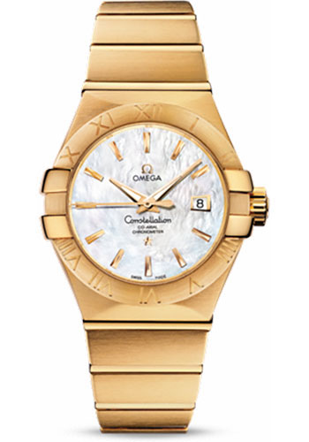 Omega Watches - Constellation Co-Axial 31 mm - Brushed Yellow Gold - Style No: 123.50.31.20.05.002