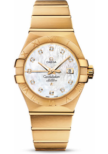 Omega Watches - Constellation Co-Axial 31 mm - Brushed Yellow Gold - Style No: 123.50.31.20.55.002
