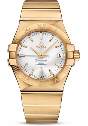 Omega Watches - Constellation Co-Axial 35 mm - Brushed Yellow Gold - Style No: 123.50.35.20.02.002
