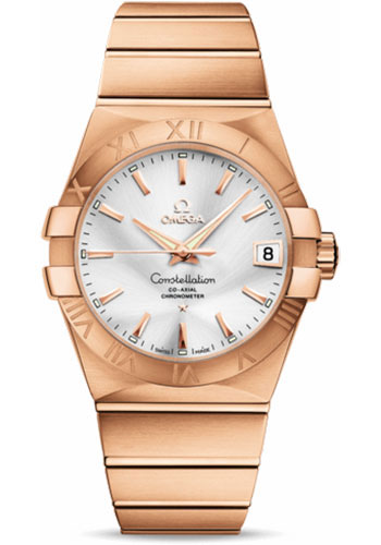 Omega Watches - Constellation Co-Axial 38 mm - Brushed Red Gold - Style No: 123.50.38.21.02.001
