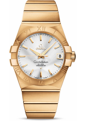 Omega Watches - Constellation Co-Axial 38 mm - Brushed Yellow Gold - Style No: 123.50.38.21.02.002