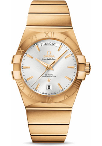 Omega Watches - Constellation Co-Axial Day-Date 38 mm - Yellow Gold - Style No: 123.50.38.22.02.002