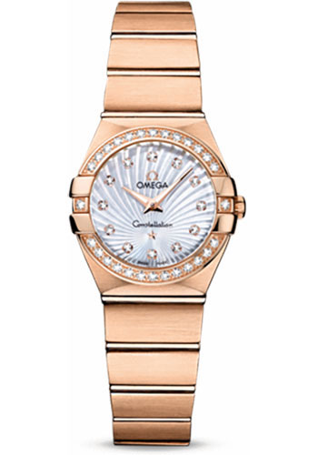 Omega Watches - Constellation Quartz 24 mm - Brushed Red Gold - Style No: 123.55.24.60.55.001