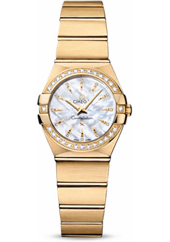 Omega Watches - Constellation Quartz 24 mm - Brushed Yellow Gold - Style No: 123.55.24.60.55.004