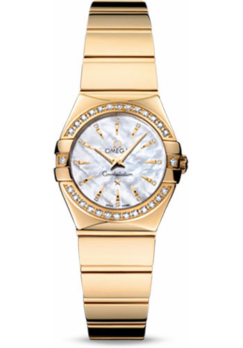 Omega Watches - Constellation Quartz 24 mm - Polished Yellow Gold - Style No: 123.55.24.60.55.008