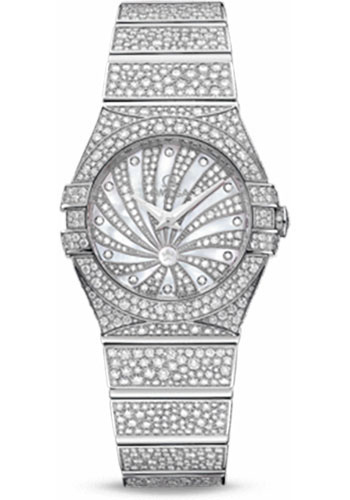 Omega Watches - Constellation Quartz 24 mm - White Gold - Style No: 123.55.24.60.55.010