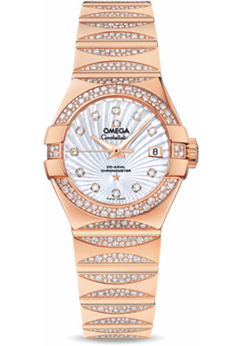 Omega Watches - Constellation Quartz 27 mm - Red Gold - Style No: 123.55.27.20.55.003