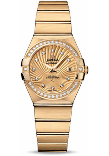 Omega Watches - Constellation Co-Axial 27 mm - Yellow Gold - Style No: 123.55.27.20.58.001