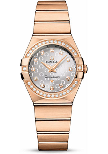 Omega Watches - Constellation Quartz 27 mm - Brushed Red Gold - Style No: 123.55.27.60.52.001