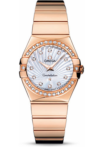 Omega Watches - Constellation Quartz 27 mm - Polished Red Gold - Style No: 123.55.27.60.55.005