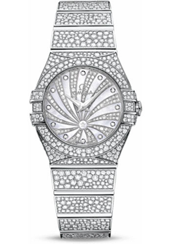 Omega Watches - Constellation Quartz 27 mm - White Gold - Style No: 123.55.27.60.55.010
