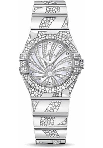 Omega Watches - Constellation Quartz 27 mm - White Gold - Style No: 123.55.27.60.55.012