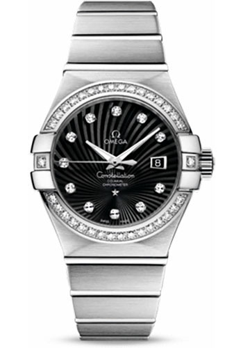 Omega Watches - Constellation Co-Axial 31 mm - Brushed White Gold - Style No: 123.55.31.20.51.001