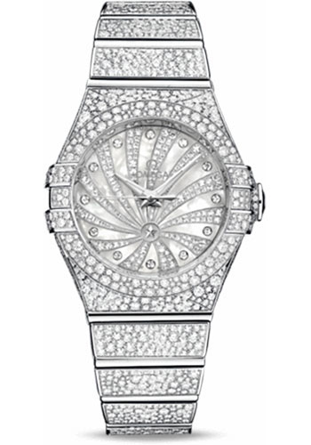 Omega Watches - Constellation Quartz 31 mm - White Gold - Style No: 123.55.31.20.55.007